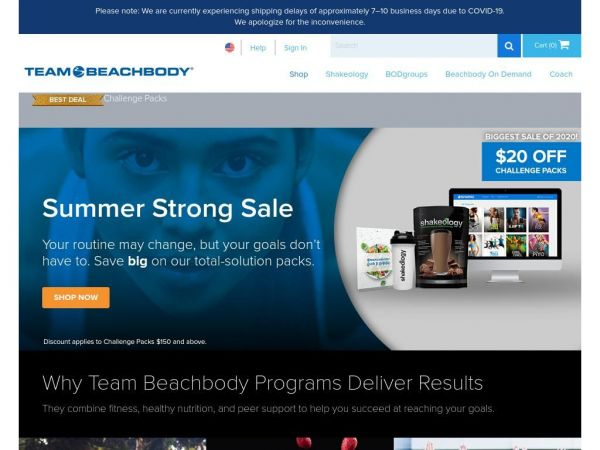 Shop Fitness Programs, Nutritional Products, Gear & Apparel | Team Beachbody US