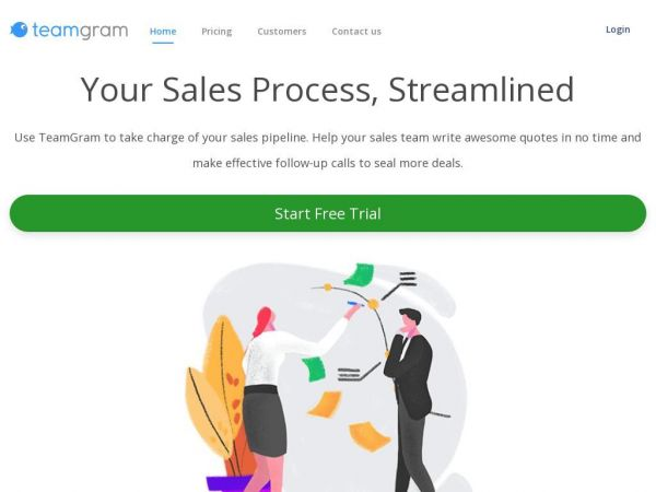 TeamGram: Keep track of sales, customers and tasks.