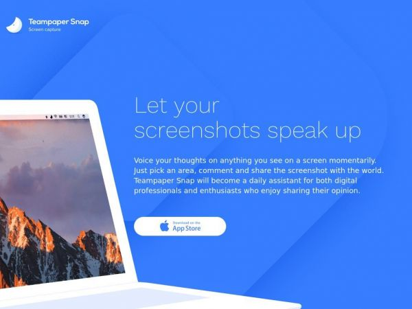 Teampaper Snap — app to take screenshots and comment them for macOS