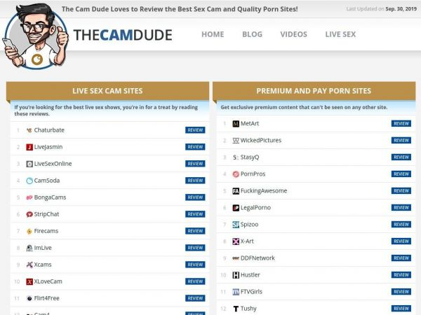 TheCamDude - The Cam Dude - The World's #1 Sex Cam Reviews