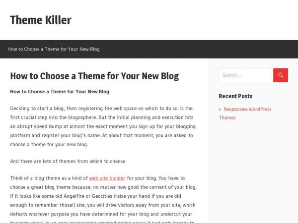 How to Choose a Theme for Your New Blog - Theme Killer