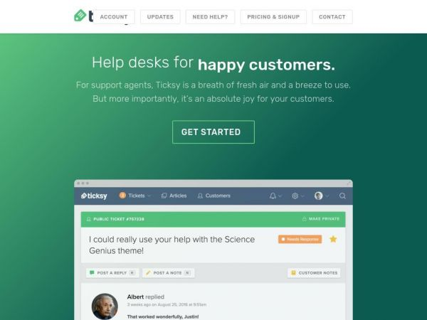 Ticksy - Help desks for Envato authors, freelancers, and more.