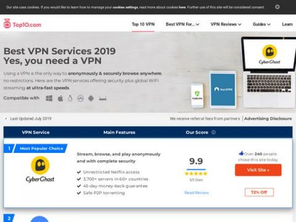 The Best VPN Services of 2019 | Compare Top VPN Providers