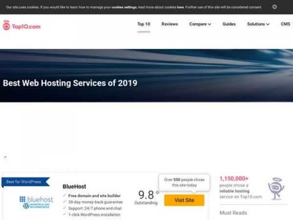 Top 10 Web Hosting Companies of 2019