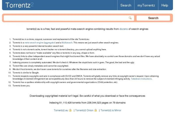 Torrentz2 Search Engine