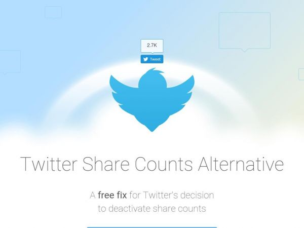 TwitCount - Twitter Share Counts Alternative