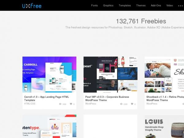 UI Kits, Mockup, Logo, Fonts and more free UI&UX Resources~UXfree