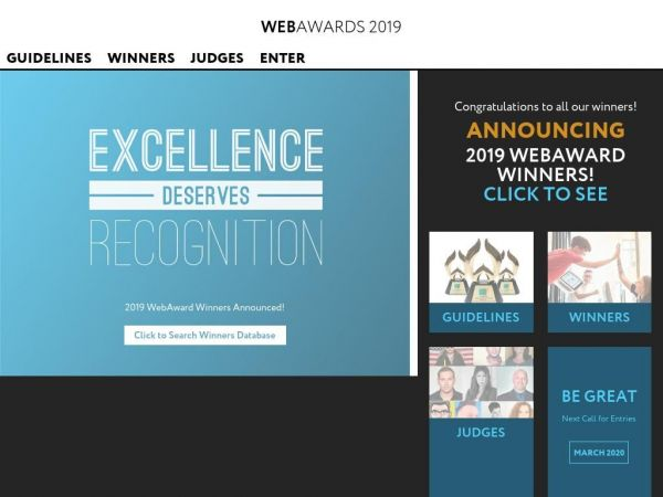 webaward.org Award winning websites - WebAwards 2019