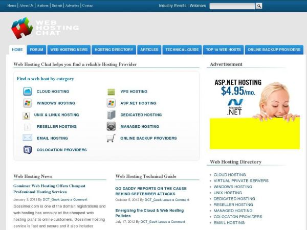 Web Hosting Directory, Resources, Forum,  Industry Trends and News —