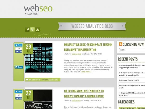 SEO Blog - Tips & Online Marketing News - Web SEO Analytics Blog