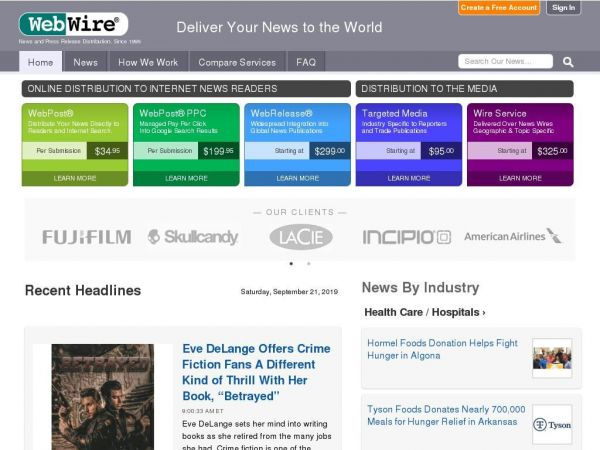 Press Release Distribution Services - WebWire