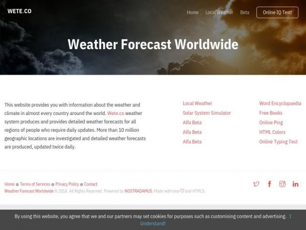 Weather Forecast Worldwide