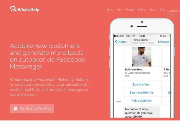 Facebook Messenger Marketing Platform | WhatsHelp