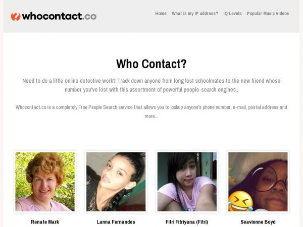 Who Contact? | People Informations