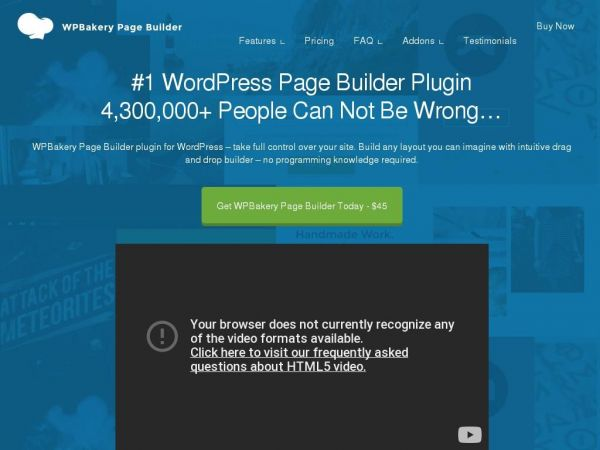 WPBakery - Pushing WordPress limits is our daily job since 2008