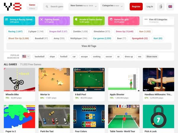 Y8 Games : Play free online games at Y8.com