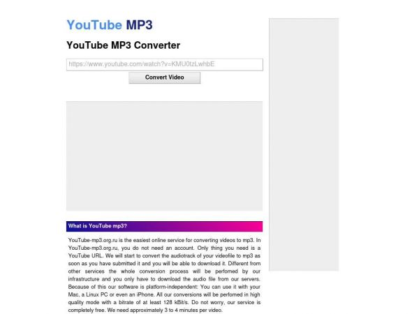 YouTube MP3 Converter - YouTube-MP3.org.ru
