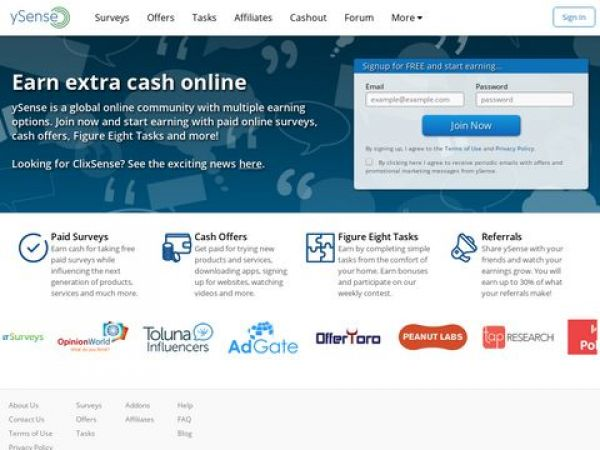 Earn Free Cash Online | Make Extra Money With ySense